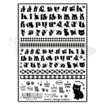 Sha-Nail 貼紙 N-MM001(貓咪字母)