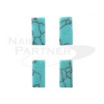 SARURU 天然石紋棒 綠松石 8×4㎜(4個) 1241
