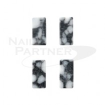 SARURU 天然石紋棒1243 黑色大理石(4個)