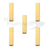 SARURU 美甲飾品 長方型金條M 10x2mm(10個)