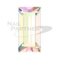 施華洛世奇 尖底 矩形4×2mm 極光水晶(8顆)#4501