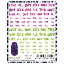 Sha-Nail 貼紙 More MTAKE-002  Lettering Fonts(girl)