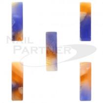 CLOU 彩繪飾品 長方形橘藍 8×2mm(20個)