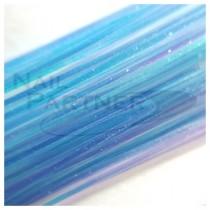 SARURU 超極細極光絲線 藍 (100cm)