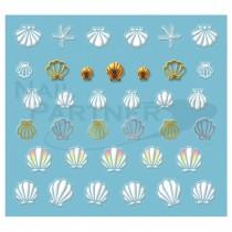 ◆BN.INC. 貼紙 夏季指甲 SUN-01 水晶貝殼