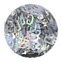 SARURU 閃亮快樂亮片 HG-157 英文字母 銀