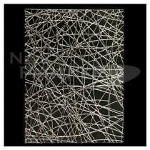 ◆BN.INC. 貼紙 不規則網狀 銀 CNS-02