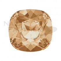 施華洛世奇 尖底 方形 8mm  金色水晶影子(2個) #4470
