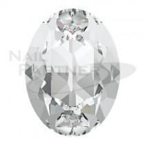 施華洛世奇 尖底 橢圓 6x4mm 水晶(6個)#4120