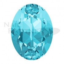 施華洛世奇 尖底 橢圓 6x4mm 海藍(6粒)#4120