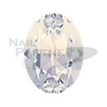 施華洛世奇 尖底 橢圓 8x6mm 白色蛋白石(6個)#4120