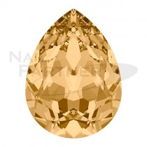 施華洛世奇 尖底 水滴 6x4mm 淺黃水晶(6個)#4320