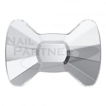 ◆施華洛世奇 平底 蝴蝶結 4.5×6mm 水晶(4個) #2858