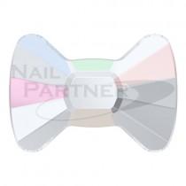 ◆施華洛世奇 平底蝴蝶結 4.5×6mm 水晶極光(4個) #2858