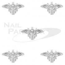CLOU 金屬飾品 蜜蜂 5×8mm 銀(30個)