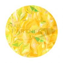 SARURU 閃亮快樂亮片 HG-238 立體黃色極光