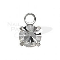 ◆PRETTY NAIL 吊飾 銀 (5個) NHB-0001