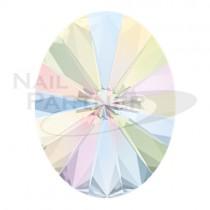 施華洛世奇 尖底 橢圓核桃 水晶極光8×6mm(6顆)#4122