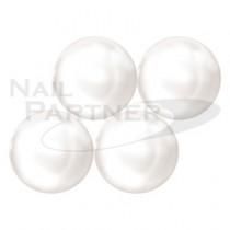 施華洛世奇 平底 凸圓形 白珍珠 SS34(6顆)  #2081