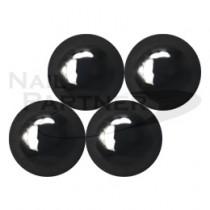 施華洛世奇 平底 凸圓形 黑玉 SS34(6顆)  #2081