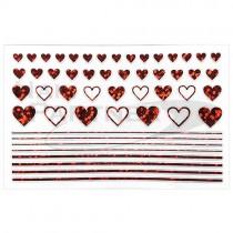 ◆Amaily 彩繪貼紙 9-10 愛心(紅)