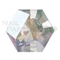 施華洛世奇 尖底 六角型萬花筒 水晶極光(4粒) #4499