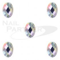 Capri 彩色水晶 橢圓 水晶極光 4*6mm(20粒)