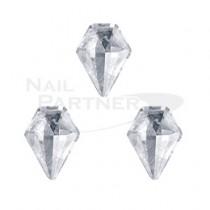 CLOU 美甲珠寶 閃亮鑽石 透明 8×6mm(3個)