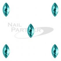 CLOU 美甲珠寶 晶片葉 藍鋯石 5×2mm(20個)