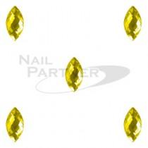 CLOU 美甲珠寶 晶片葉 黃水晶 5×2mm(20個)