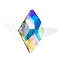 PRECIOSA 平底 rambus菱形 水晶極光 10×6mm(4個)
