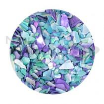 Capri 碎貝殼 #17 藍色MIX