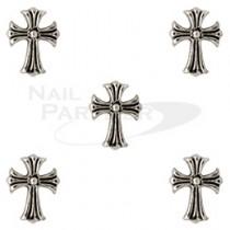 CLOU 金屬飾品 迷你十字架  復古銀7×5mm(5個)