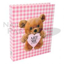 ART ME 書型甲片收納盒 格紋泰迪熊
