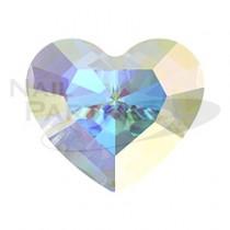 施華洛世奇 尖底 迷你愛心 3.6×3.1mm 水晶極光(6個)#4883