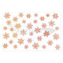 Amaily 彩繪貼紙 9-15 雪的結晶 (玫瑰金)
