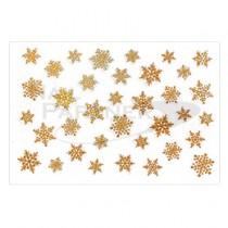 Amaily 彩繪貼紙 9-16 雪的結晶 (極光金)