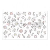 Amaily 彩繪貼紙 3-28 花式花卉 (彩色)