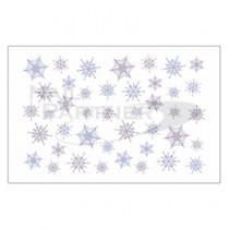 Amaily 彩繪貼紙 3-34 雪的結晶2 (彩色)
