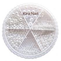 KiraNail 珍珠組 圓 純白
