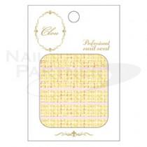 CLOU 美甲貼紙 軟呢紋-124 黃色◆