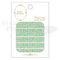 CLOU 美甲貼紙 軟呢紋-125 綠色◆
