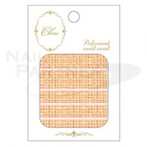 CLOU 美甲貼紙 軟呢紋-129 橘色
