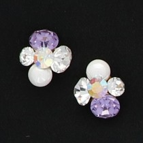 BEAUTY NAILER 閃礫鑽石 Round S KIRA-1 2個(L/紫水晶)
