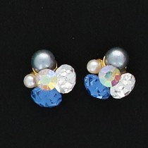 BEAUTY NAILER 閃礫鑽石 Round S KIRA-4 2個(藍寶)