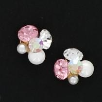 BEAUTY NAILER 閃礫鑽石 Round S KIRA-6 2個(玫瑰)