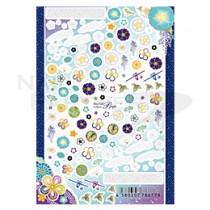 Sha-Nail 貼紙 HTD-002(和風花卉-藍)