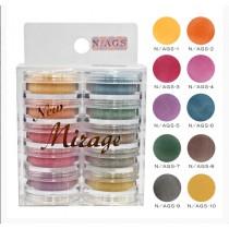 Mirage 水晶粉 3.5g 10色套組 N/AGS