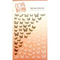 爪飾工房 美甲貼紙3-1 蝴蝶結(黑╳白)